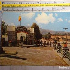 Cartes Postales: POSTAL DE MELILLA. AÑO 1969. ENTRADA AL CUARTEL DE REGULARES 5. SOLDADOS MILITARES. 811. Lote 97089203