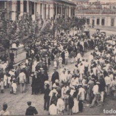 Postales: MELILLA - 1911-12 EL PUBLICO FRENTE A CAPITANIA - ENTIERRO GENERAL ORDOÑEZ. Lote 97095131