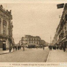 Postais: MELILLA-- AVDA. HÉROES DEL ALCÁZAR Y CALLE O'DONNELL--- ROISIN Nº -8. Lote 97340191