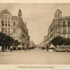 Postales: MELILLA-- AVDA. HÉROES DEL ALCÁZAR-AUTOBUS--- ROISIN Nº -9. Lote 97340211