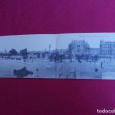 Postales: TARJETA POSTAL DOBLE. MELILLA. VISTA GENERAL DE LA PLAZA DE ESPAÑA. EDICION BOIX HERMANOS. Lote 98980791