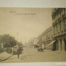 Postales: MELILLA. CALLE DEL GENERAL MARINA. HAUSER Y MENET. SIN CIRCULAR. Lote 100649543