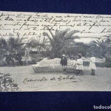Postales: POSTAL MELILLA UN DETALLE DEL PARQUE V L SEVILLA 1909. Lote 102550319