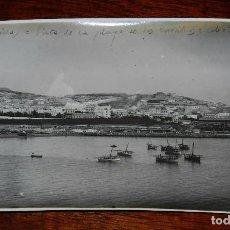 Postales: FOTOGRAFIA DE MELILLA, VISTA DE LA PLAYA DE LOS CARABOS, ABRIL DE 1923, PLENA GUERRA DEL RIF, GUERRA. Lote 103474715