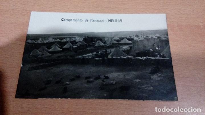 TARJETA POSTAL - MELILLA - AÑOS 20 - CAMPAMENTO DE KANDUSSI- CIRCULADA - BUEN ESTADO (Postales - España - Melilla Antigua (hasta 1939))