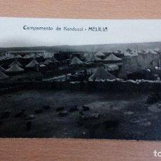 Postales: TARJETA POSTAL - MELILLA - AÑOS 20 - CAMPAMENTO DE KANDUSSI- CIRCULADA - BUEN ESTADO. Lote 104772091