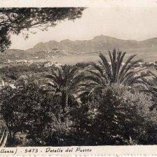 Postales: MALLORCA (POLLENSA) DETALLE DEL PUERTO . CIRCULADA.VER IMAGEN. Lote 108355383