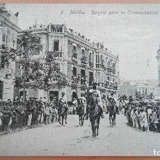 Postales: POSTAL MELILLA Nº 9 DESFILE ANTE LA COMANDANCIA GENERAL EDIC ROIX HERMANOS PERFECTO ESTADO. Lote 108798367