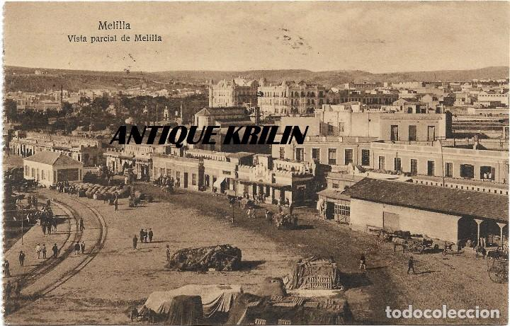 MELILLA .- VISTA PARCIAL DE MELILLA .-EDICION M.V.POSTAL EXPRES Nº 122 .- CIRCULADA (Postales - España - Melilla Antigua (hasta 1939))