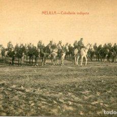Postales: MELILLA-CABALLERÍA INDÍGENA- L. HERRERA- RARA. Lote 109300423