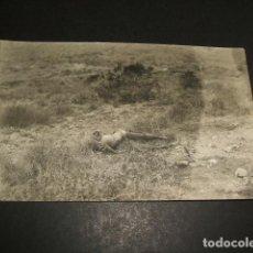 Postales: MELILLA GUERRA DEL RIF CADAVER DECAPITADO POSTAL FOTOGRAFICA ZARCO FOTOGRAFO. Lote 110275883