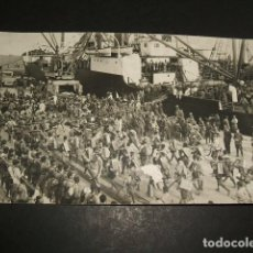 Postales: MELILLA GUERRA DEL RIF POSTAL FOTOGRAFICA ZARCO FOTOGRAFO REGULARES EN MUELLE. Lote 110277307