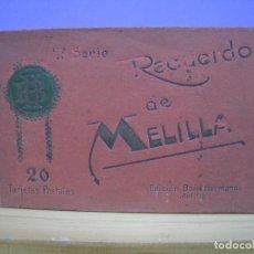 Postales: MELILLA. RECUERDO. 2ª SERIE. BOIX HNOS. ALBUM 16 POSTALES ORGINALES. Lote 112981039