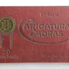 Postales: COLECCION CARICATURAS MORAS. 19 TARJETAS. DE 20 QUE ES LA SERIE 2ª. ED. HERMANOS BOIX. MELILLA. Lote 155978841