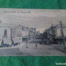 Postales: MELILLA CALLE DE ALFONSO XIII EDITOR M ARRIBAS ESPOZ Y MINA . Lote 119038783