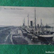 Postales: MELILLA MUELLE DE VILLANUEVA EDITOR M ARRIBAS ESPOZ Y MINA . Lote 119038867