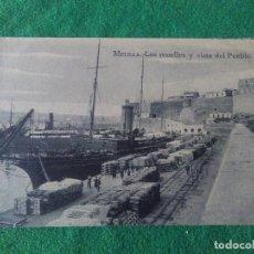 Postales: MELILLA LOS MUELLES Y VISTA DEL PUEBLO EDITOR ARRIBAS . Lote 119038911