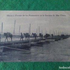 Postales: MELILLA PUENTE DE LOS PONTONES EN LA BOCANA DE MAR CHICA EDITOR ARRIBAS . Lote 119039327