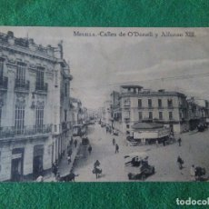 Postales: MELILLA CALLES DE O DONNELLY ALFONSO XIII. Lote 119043651