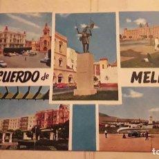 Postales: RECUERDO DE MELILLA. CIRCULADA. Lote 121195475