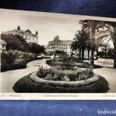 Postales: POSTAL MELILLA JARDINES PLAZA ESPAÑA FOTÓGRAFO L ROISIN PPIO S XX. Lote 121594027