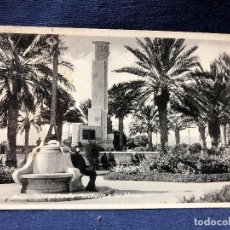 Postales: MELILLA POSTAL PLAZA DE ESPAÑA MONUMENTO A LOS HÉROES 1 DE JUNIO DE 1924. Lote 121596107