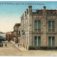 Postales: MELILLA.- CALLE DE CERVANTES Y EDIFICIO DE LA CÁMARA DE COMERCIO. Lote 121911799