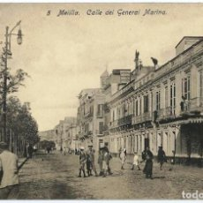 Postales: MELILLA.- CALLE DEL GENERAL MARINA. Lote 121912083
