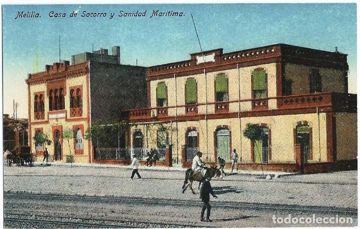 MELILLA.- CASA DE SOCORRO Y SANIDAD MARÍTIMA (Postales - España - Melilla Antigua (hasta 1939))