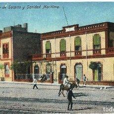 Postales: MELILLA.- CASA DE SOCORRO Y SANIDAD MARÍTIMA. Lote 121912327