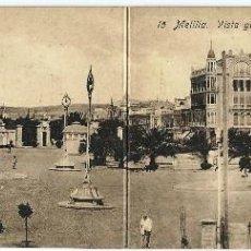 Postales: MELILLA.- VISTA GENERAL DE LA PLAZA DE ESPAÑA. Lote 121913903