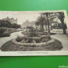 Postales: TARJETA POSTAL. JARDINES PLAZA DE ESPAÑA. MELILLA. 1934. Lote 122287539