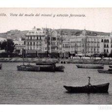 Postales: MELILLA.- VISTA DEL MUELLE DEL MINERAL - ED. BOIX HERMANOS. Lote 122719411