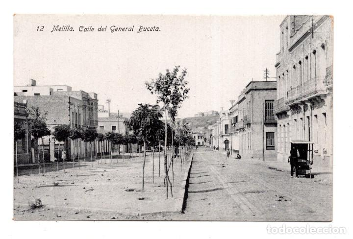 MELILLA.- CALLE DEL GENERAL BUCETA - ED. BOIX HERMANOS (Postales - España - Melilla Antigua (hasta 1939))