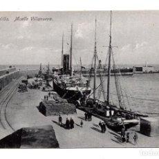 Postales: MELILLA.- MUELLE VILLANUEVA - ED. BOIX HERMANOS. Lote 122719791