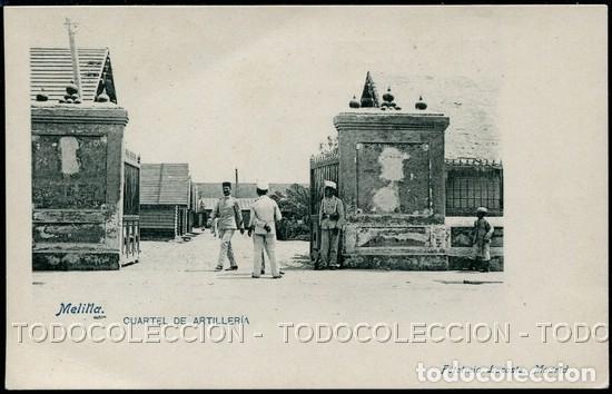 POSTAL MELILLA CUARTEL DE ARTILLERIA . FOTOTIPIA LACOSTE . CA AÑO 1900 (Postales - España - Melilla Antigua (hasta 1939))