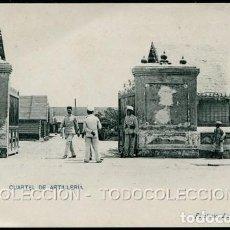 Postales: POSTAL MELILLA CUARTEL DE ARTILLERIA . FOTOTIPIA LACOSTE . CA AÑO 1900. Lote 124547939