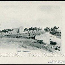 Postales: POSTAL MELILLA UNA CARAVANA . FOTOTIPIA LACOSTE . CA AÑO 1900. Lote 124548203