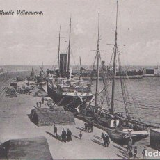 Postales: MELILLA - MUELLE VILLANUEVA. Lote 125090487