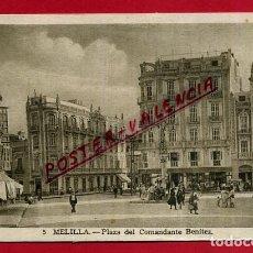 Postales: POSTAL MELILLA, PLAZA DEL COMANDANTE BENITEZ, P88983. Lote 125635031
