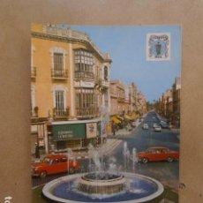 Postales: POSTAL MELILLA, FUENTE LUMINOSA Y VISTA DE LA AVENIDA. Lote 127322007