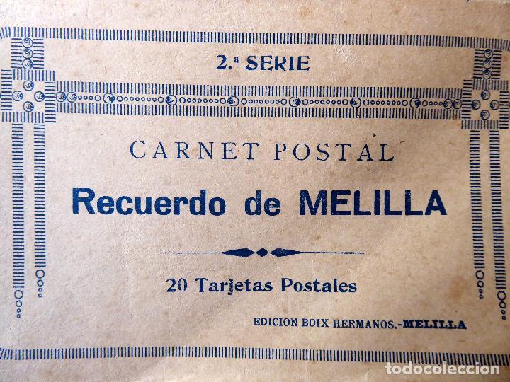P-8406. MELILLA. CUADERNO DE 20 POSTALES RECUERDO DE MELILLA. PPIO. AÑOS 30.BOIX HERMANOS. 2ª SERIE (Postales - España - Melilla Antigua (hasta 1939))