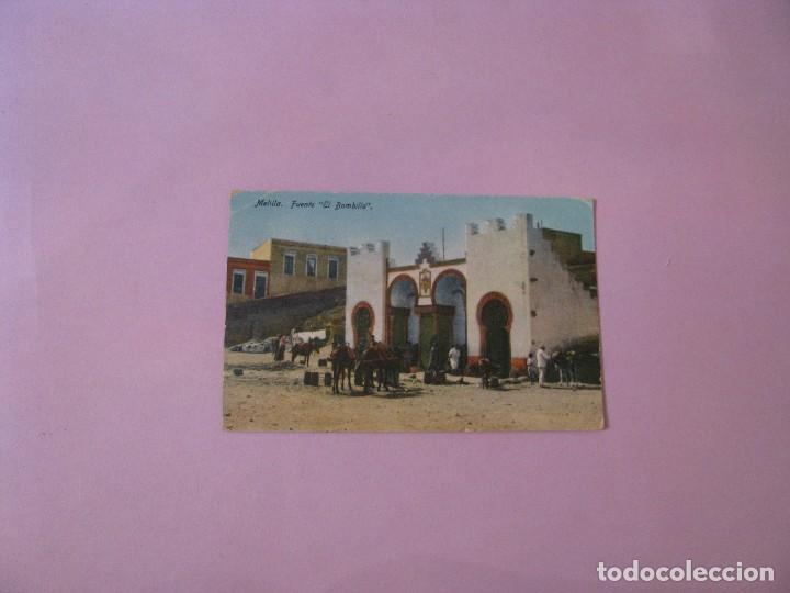 POSTAL DE MELILLA. FUENTE EL BOMBILLO. ED. BOIX HERMANOS. SIN CIRCULAR. (Postales - España - Melilla Antigua (hasta 1939))