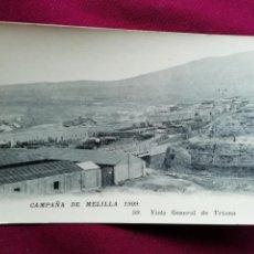 Postales: CAMPAÑA DE MELILLA 1909. Lote 130599182