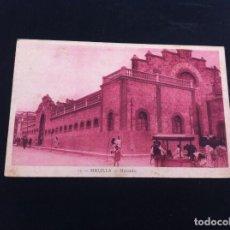 Postales: POSTAL DE MELILLA. MERCADO. POSTAL ESCRITA. Lote 130661328
