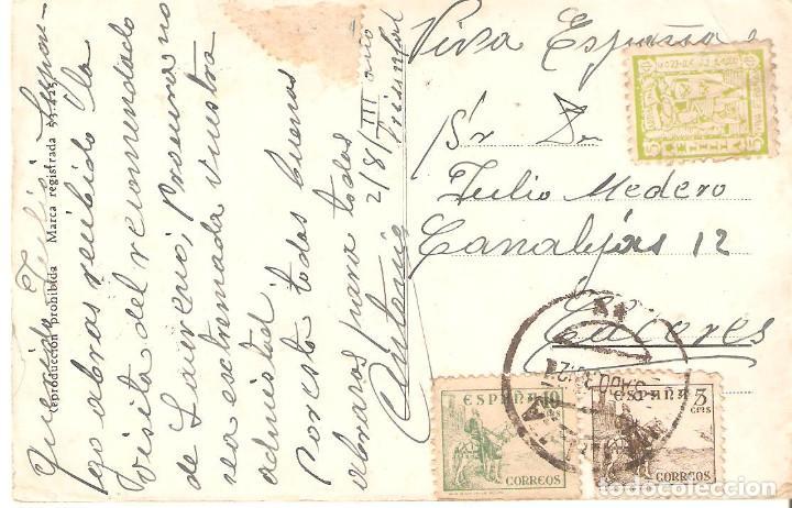 Postales: Postal Melilla. Plaza de Menéndez Pelayo. 1939. - Foto 2 - 132905794