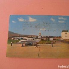 Postales: POSTALE DE MELILLA. AEROPUERTO. ED. BEASCOA. CIRCULADA 1976. HAY MANCHAS DE SELLO DE CORREO.. Lote 133584642