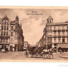 Postales: TARJETA POSTAL MELILLA. VISTA CALLE ALFONSO XIII. ESPAÑA NUEVA. Lote 134291826