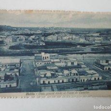 Postales: POSTAL - MELILLA, VISTA GENERAL DESDE EL FUERTE DE CAMELLOS -CIRCULADA -COL, MARTINEZ - AÑO 1918. Lote 135393434