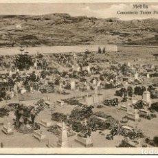 Postales: MELILLA-CEMENTERIO TERCER PATIO- MUY RARA. Lote 136539998